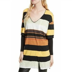 We The Free Scoop-Neck Layered Tunic Sz Small